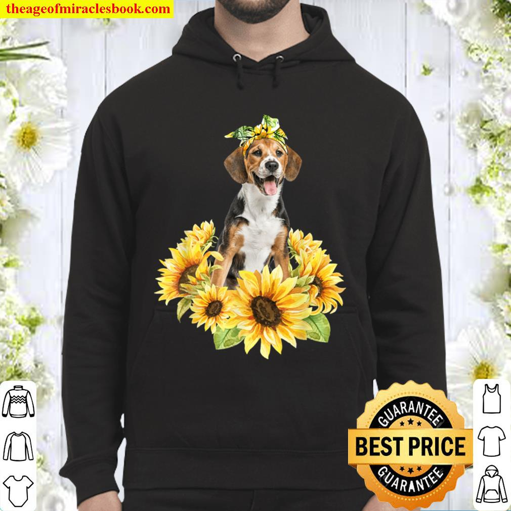 Love Beagle Sunflower For Dog Lover Gifts Hoodie