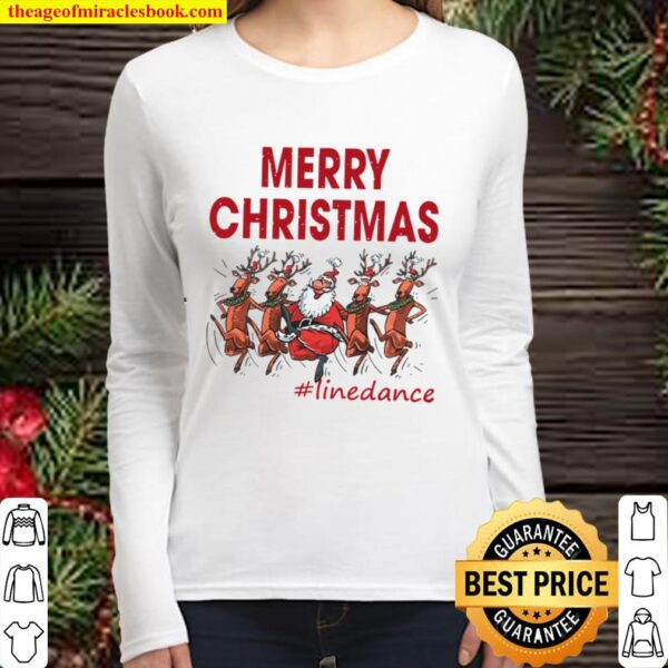 MERRY CHRISTMAS LINE DANCE Women Long Sleeved
