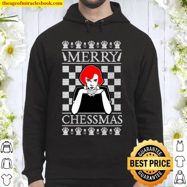 Merry Chessmas Queen_s Gambit Ugly Christmas Sweater - Unisex Adult Me Hoodie