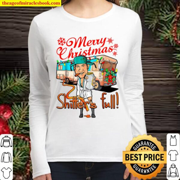 Merry Christmas Shitters Full Cousin Eddie Bus Lights Women Long Sleeved