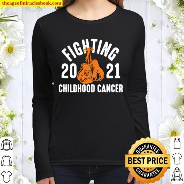 Official Fighting Childhood Cancer Gloves 2021 Women Long Sleeved