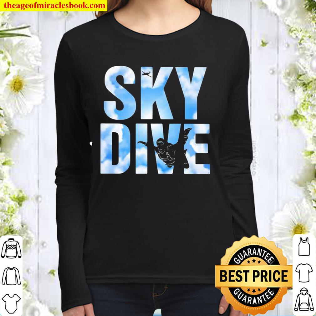 Official Sky Dive Skydivers Women Long Sleeved