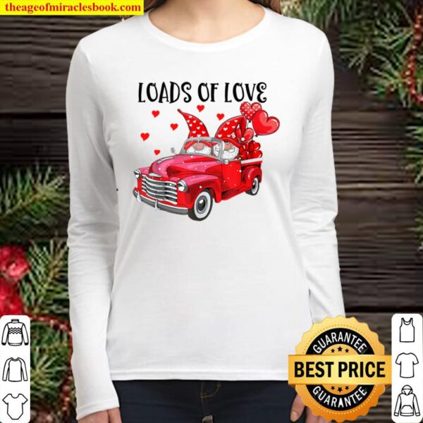 Romantic Gnome Couple Loads Of Love Sweet Valentine Women Long Sleeved