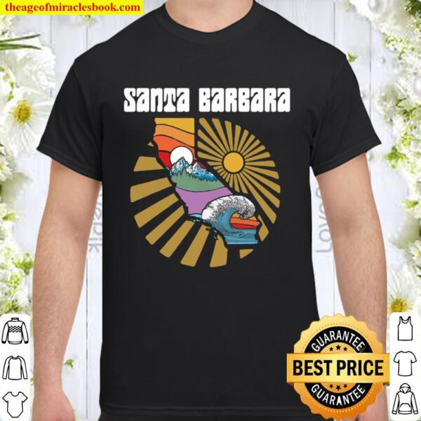 Santa Barbara California Outdoors Retro Nature Shirt