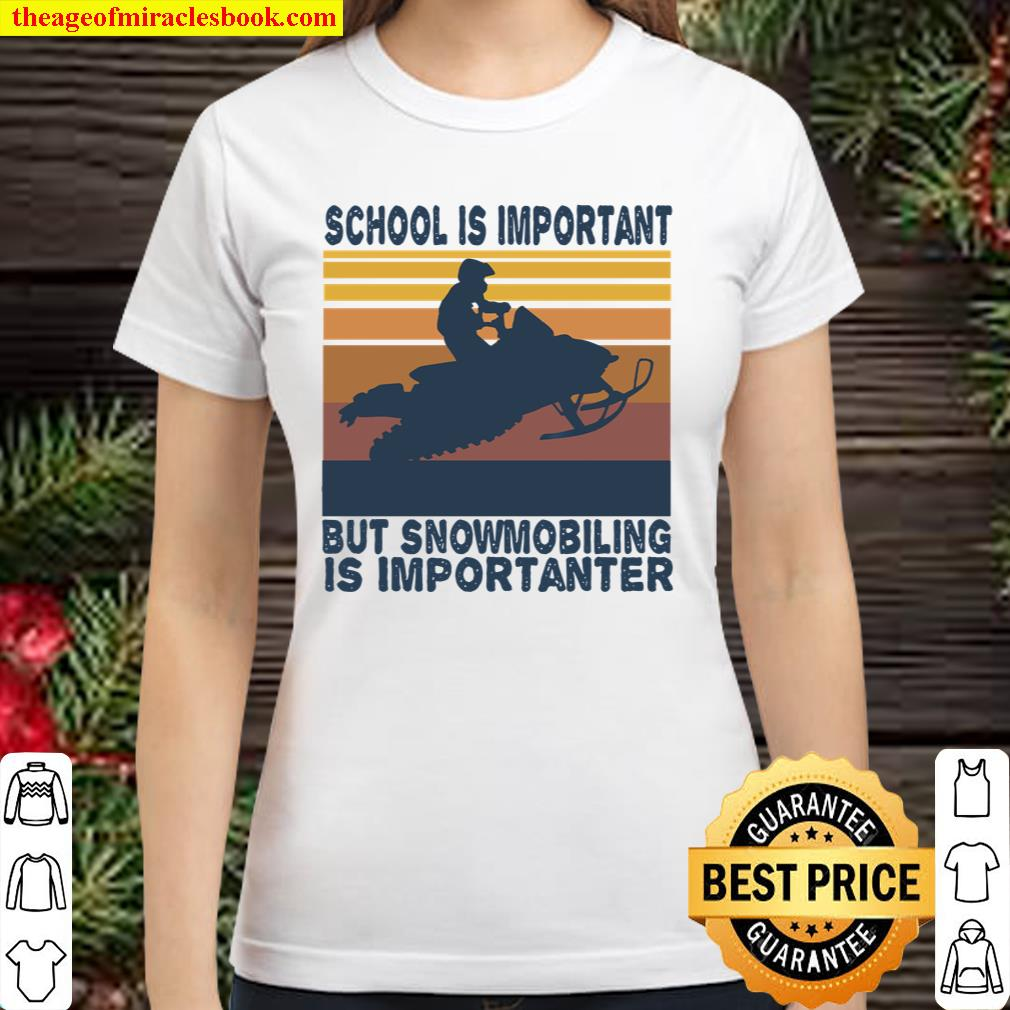 School Is Important But Team Roping Is Importanter Vintage Classic Women T-Shirt