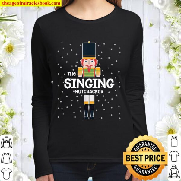 Singing Nutcracker Family Matching Funny Gift Pajama Women Long Sleeved