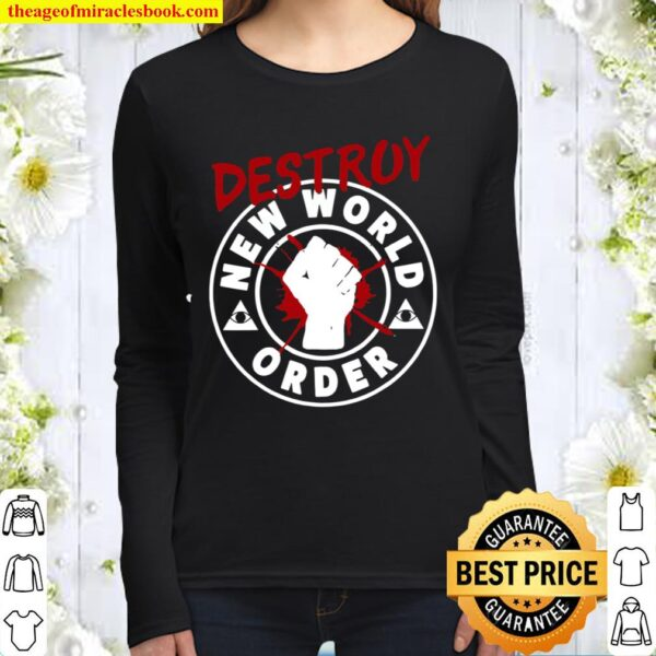 Truther Conspiracy Illuminati Confirmed Protest Women Long Sleeved
