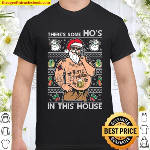 Ugly Christmas Sweater WAP There_s Some Hos In This House Unisex Shirt