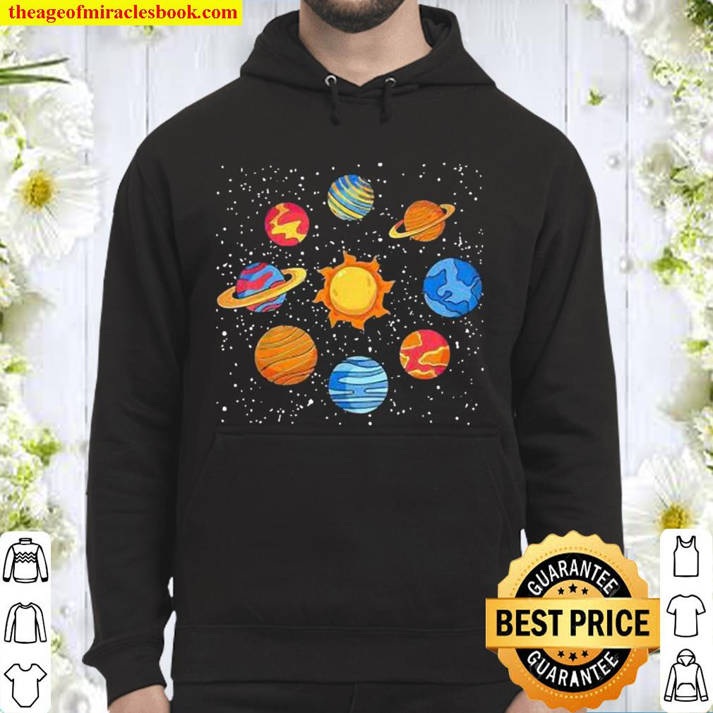 Universe planets gift idea science lover astronomy Hoodie
