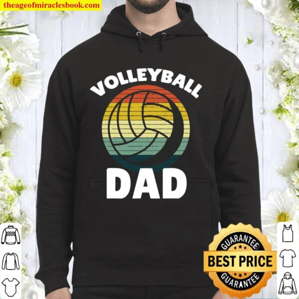 VOLLEYBALL Vintage I Dad Father Support Teamplayer Hoodie