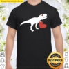Valentines Day Heart Dinosaur Party Shirts For Boys Shirt