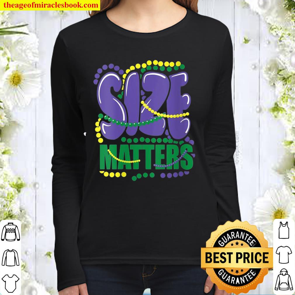 Womens Mardi Gras Size Matters Party Beads Novelty Costume Women Long Sleeved