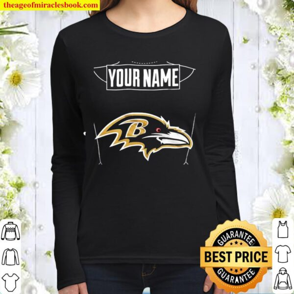 Your Name The Northwest Company Baltimore Ravens Women Long Sleeved