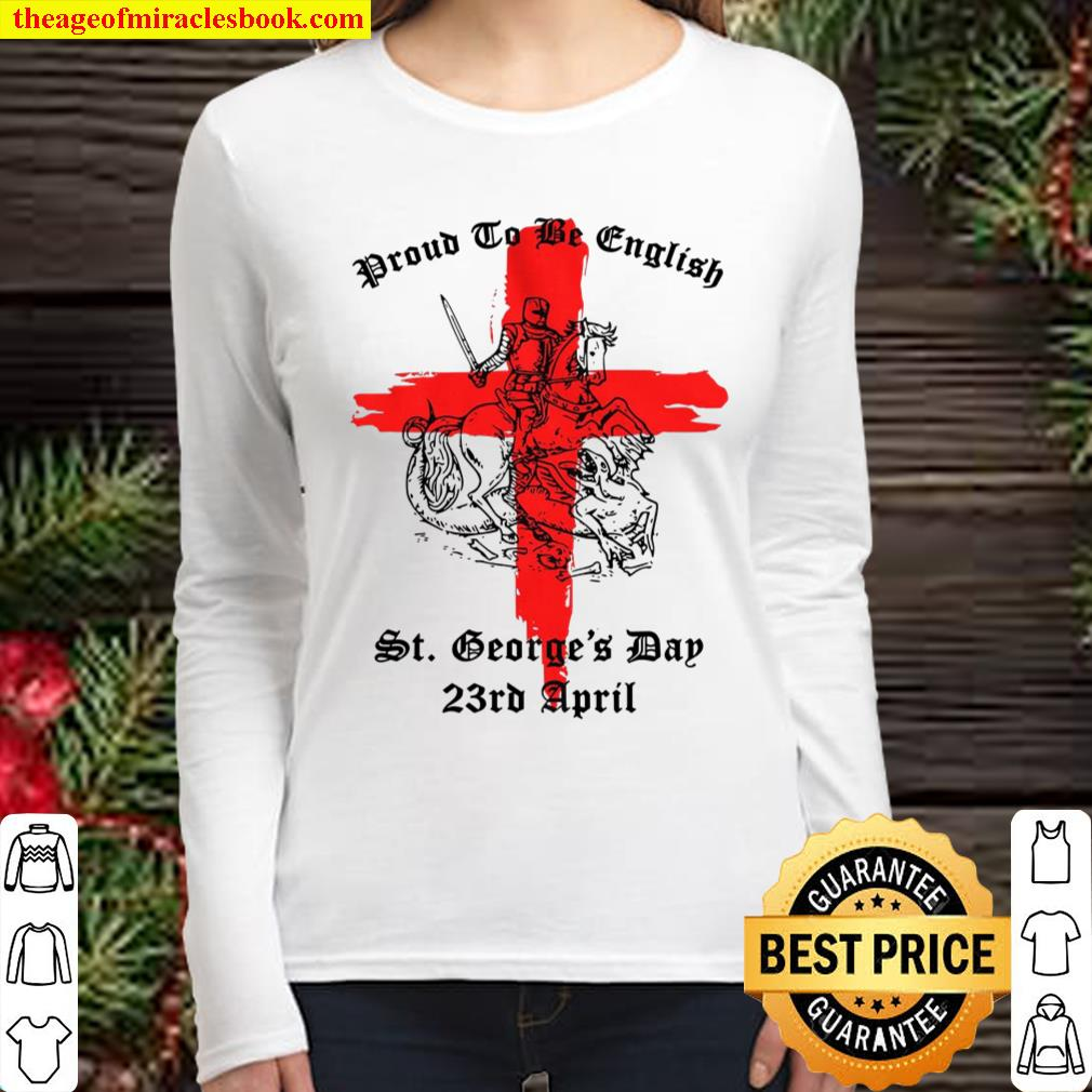 st george_s day star sign Women Long Sleeved