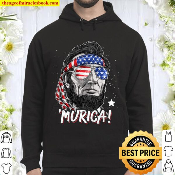 Abraham Lincoln 4Th Of July Murica Men Women American Flag Hoodie