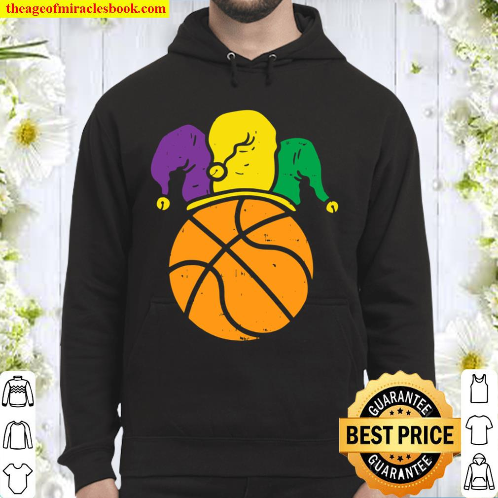 Basketball Jester Hat Mardi Gras Carnival Player Coach Gift Hoodie