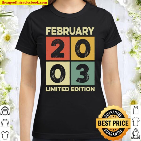 Born in January 2003 18th birthday decorations gifts 18 yr Classic Women T-Shirt