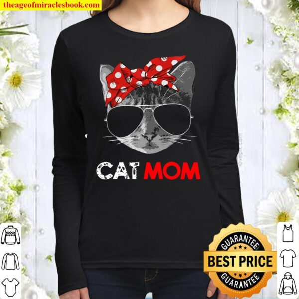 Cat Mom Shirt Cat Mommy Mother's Day Gift For Cat Lovers Women Long Sleeved