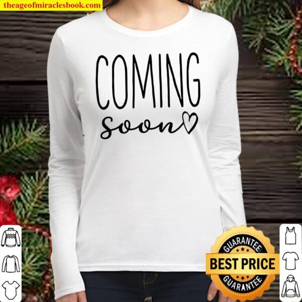 Coming Soon Infant Bodysuit, Pregnancy Announcement, Personalized, Cus Women Long Sleeved