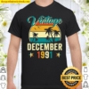 Funny 30Th Birthday Gift 30 Year Old Vintage December 1991 Shirt