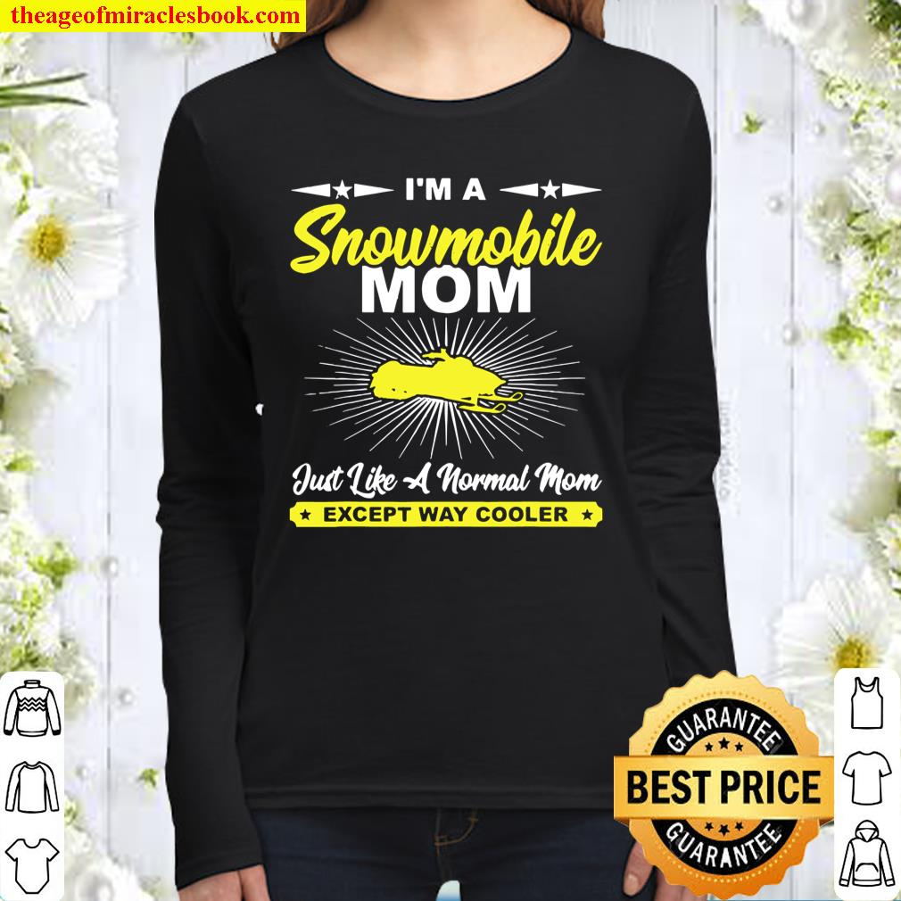 Funny Snowmobile Mom Snowmobile Rider Women Long Sleeved
