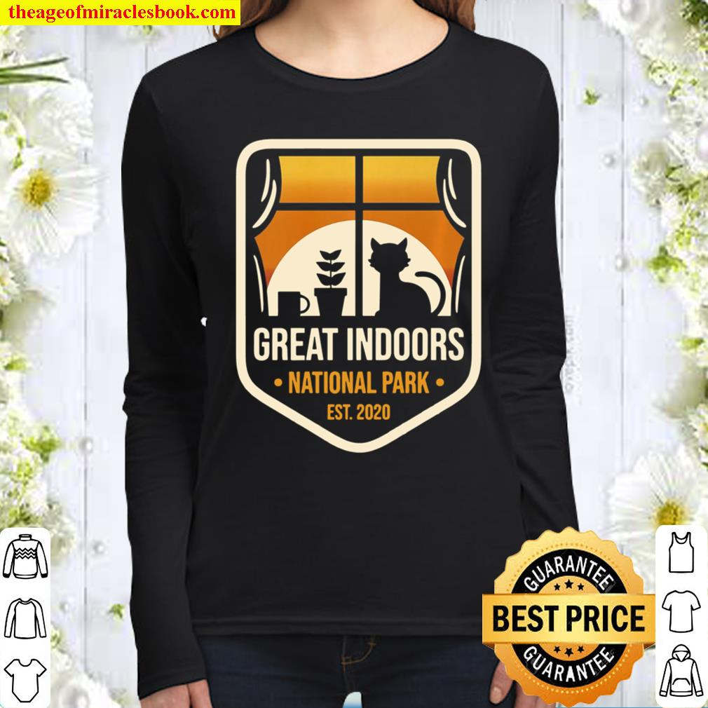 Great Indoors National Park Funny Sarcastic Introverts Gift Women Long Sleeved