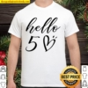Hello Fifty 50th Birthday Gifts, 50th Birthday Gift Shirt