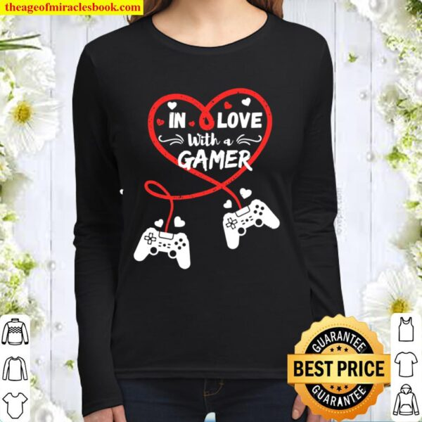In Love With A Gamer Video Gamer Couple Valentines Day Women Long Sleeved