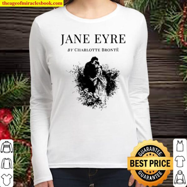 Jane Eyre Charlotte Bronte Cover Title Page Women Long Sleeved