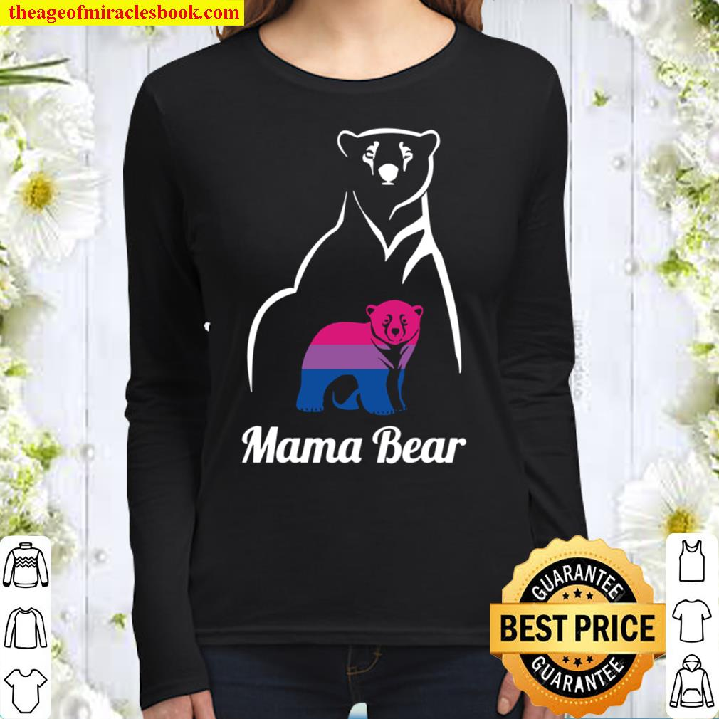 Lgbt Bisexual Pride Mama Bear Gift Pullover Women Long Sleeved