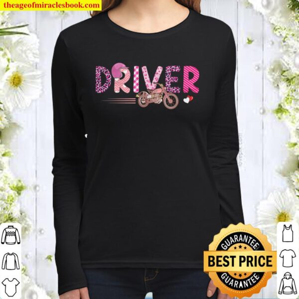 Love Pink Driver Happy Valentine Day Awesome Funny Gift Shirt Ideas Fo Women Long Sleeved