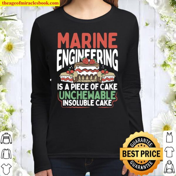 Marine Engineering Gift Funny Sarcastic Engineering Facts Women Long Sleeved