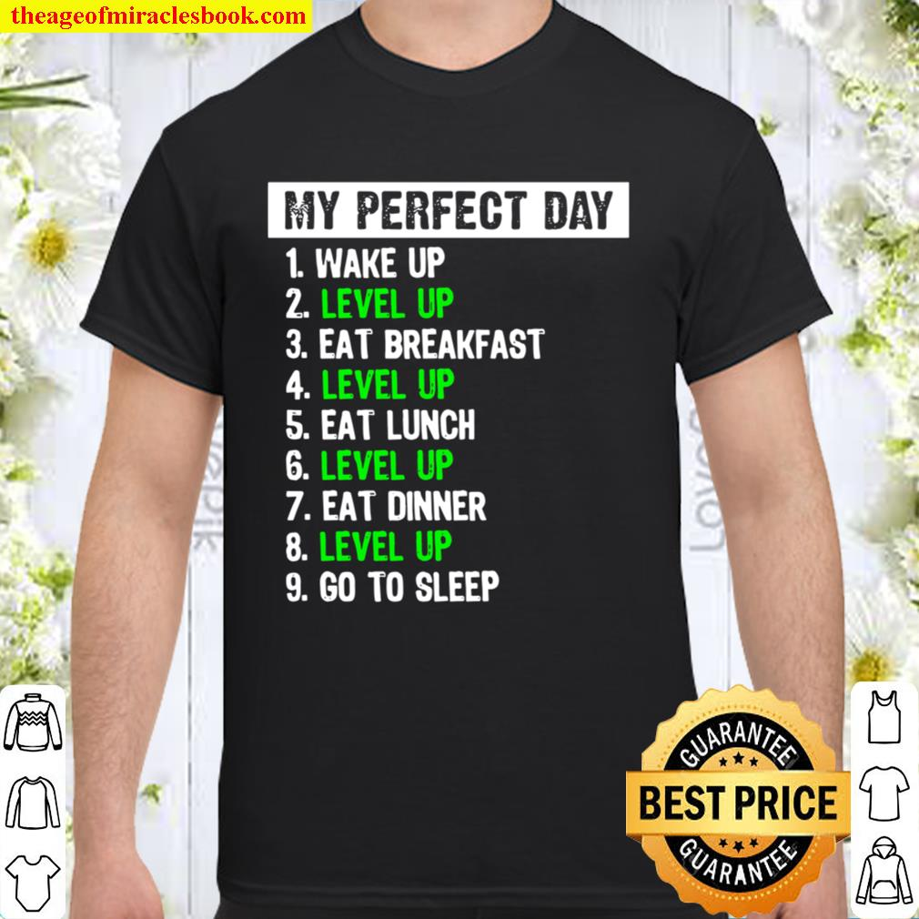 My Perfect Day Gamer Video Game Player Gaming Shirt