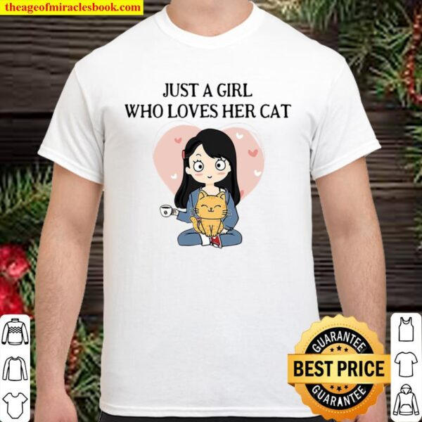 Official Chibi Girl Just A Girl Who Loves Her Cat Shirt