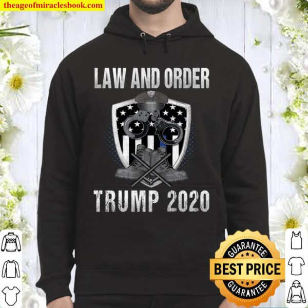 Pro Trump 2020 Thin Blue Line Flag Support The Police Gift Langarmshir Hoodie