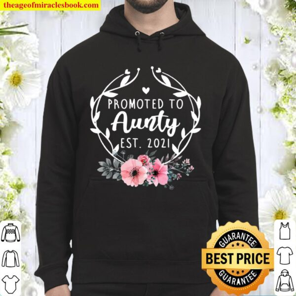 Promoted To Aunty Est 2021 Mothers Day New Grandma Hoodie