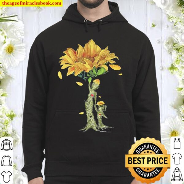 Sunflowers trees Mom and Daughter Hoodie