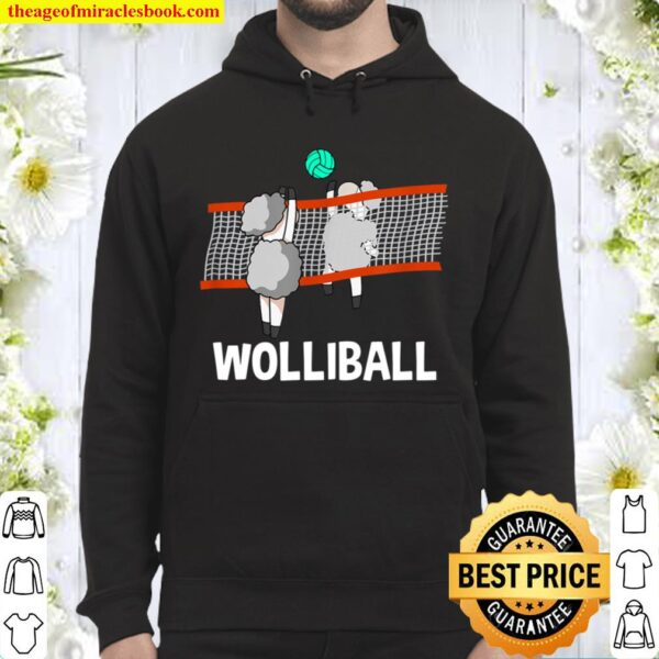 Wolliball I Funny Sheep Word Game Volleyball Hoodie