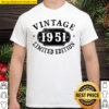 Womens 70 Years Old 70Th Birthday Anniversary Gift Limited 1951 V-Neck Shirt