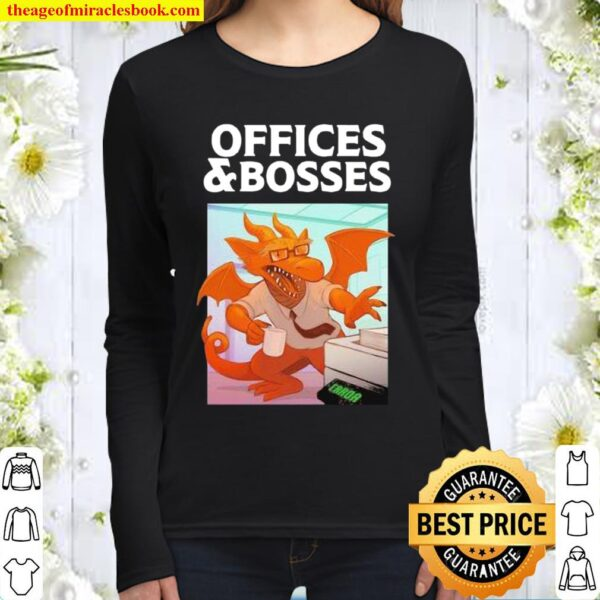 Offices And Bosses Dragon Women Long Sleeved