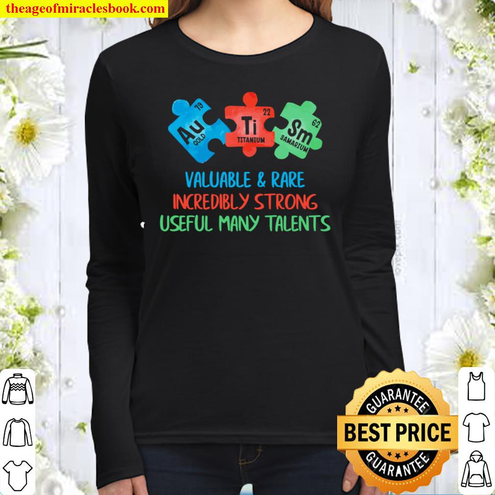 Autism Awareness Periodic Puzzle Science Teacher Women Long Sleeved