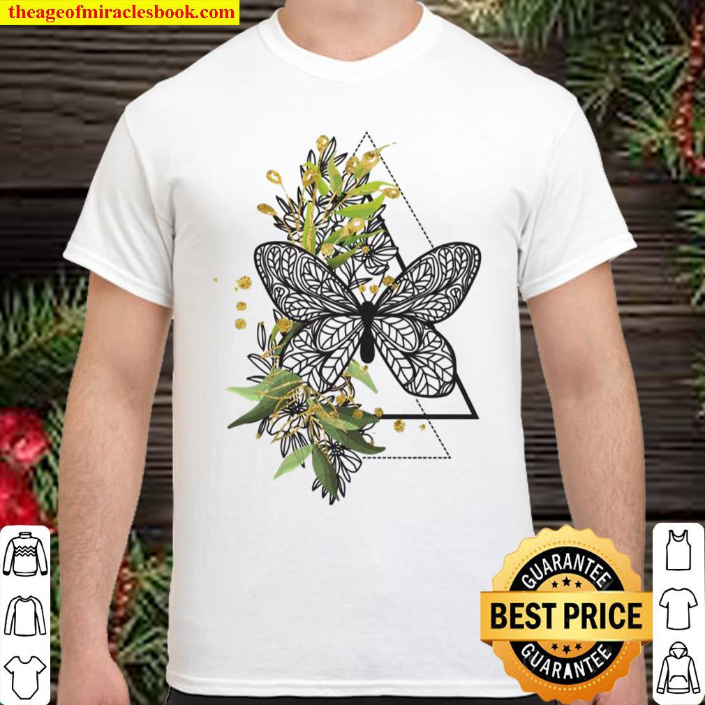 Boho Butterfly Feather Ethnic Tribal Native American Hippie Shirt