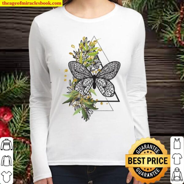 Boho Butterfly Feather Ethnic Tribal Native American Hippie Women Long Sleeved
