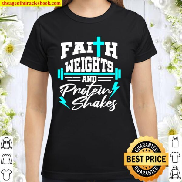 Christian Workout Fitness Weightlifting Body Building Gift Classic Women T-Shirt