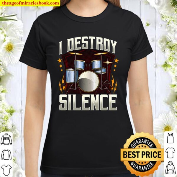 Funny Drum Kit Percussionist Drummer Kit For Drummers Classic Women T-Shirt