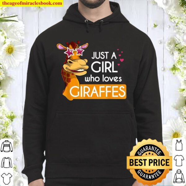 Funny Sunglasses Animal Just A Girl Who Loves Giraffes Hoodie