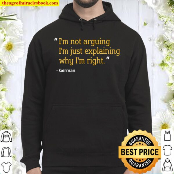 GERMAN Quote Birthday Personalized Name Idea Hoodie