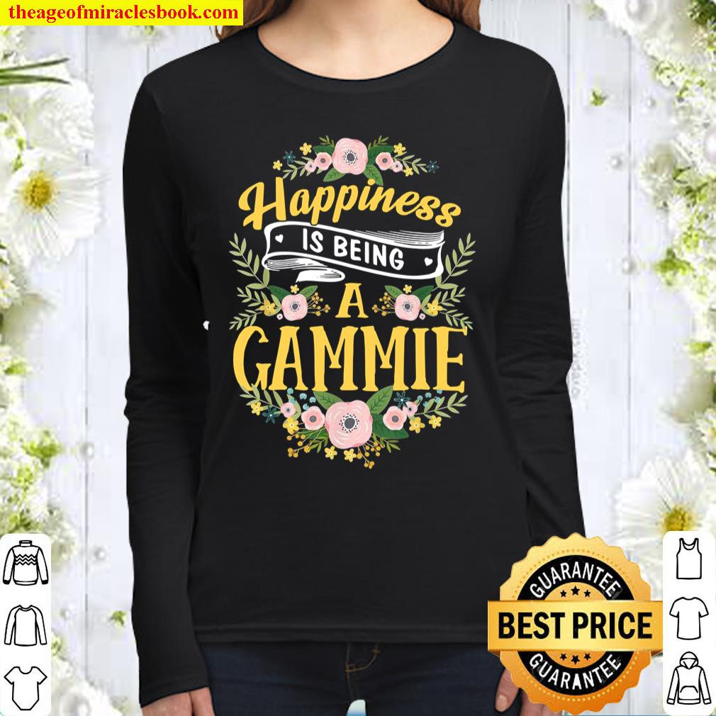Happiness Is Being A Gammie Mother's Day Women Long Sleeved