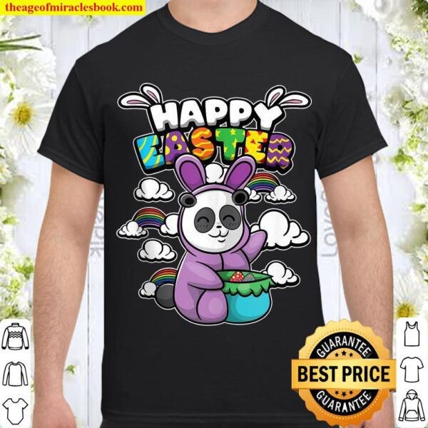 Happy Easter Easter Animals Disguised Panda Bear Shirt