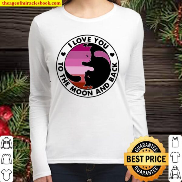 I Love You To The Moon And Back Cat Vintage Women Long Sleeved